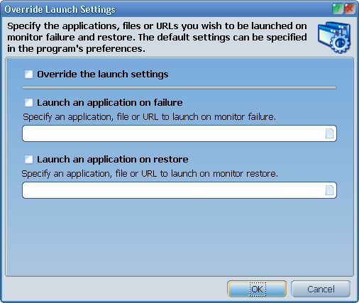 Override launcher settings